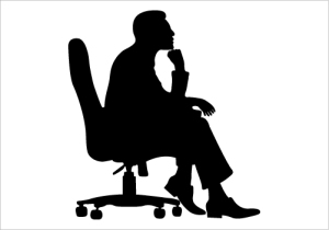 Man-Sitting-on-a-Chair-Silhouette-Graphics